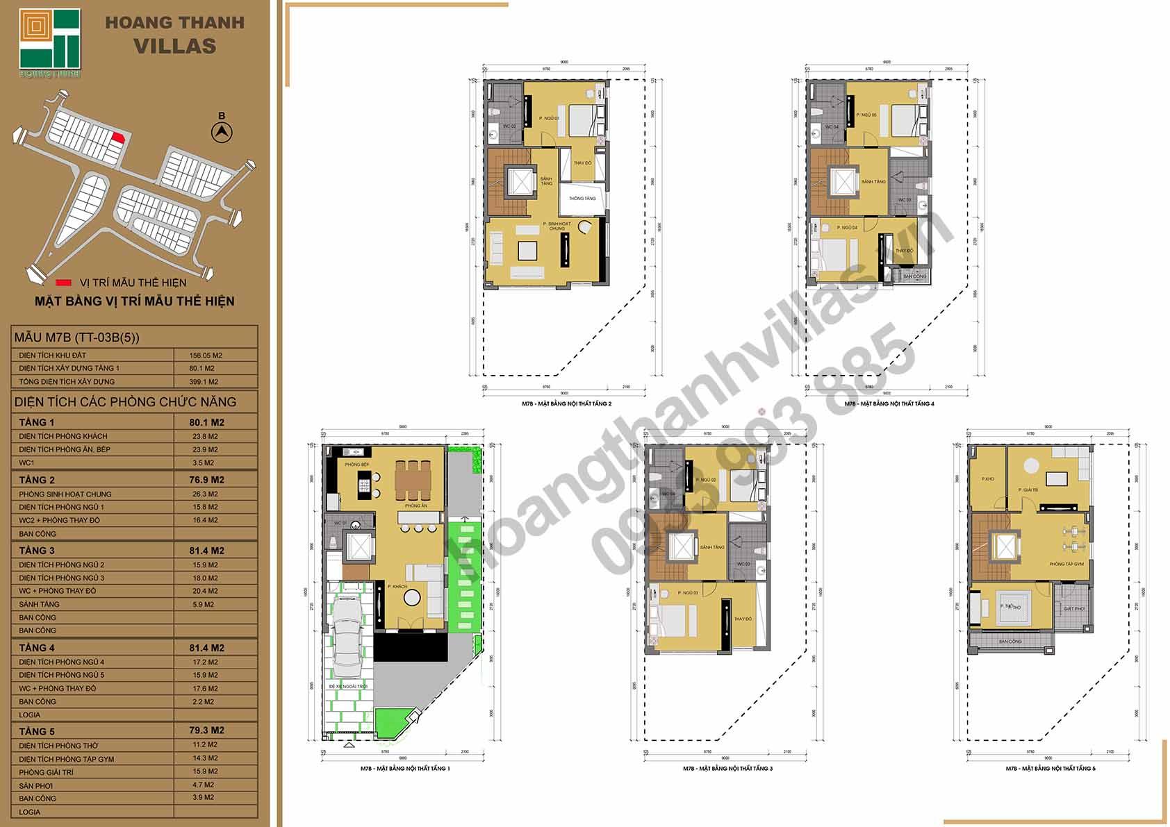 layout căn hộ hoàng thành villas
